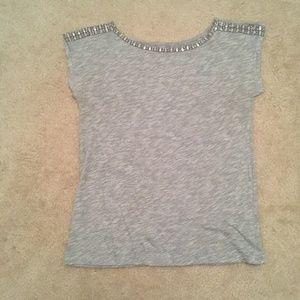 Ann Taylor Loft Jeweled T-Shirt